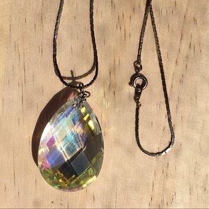 Vintage large crystal necklace FINAL MARKD…
